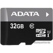 Память micro Secure Digital Card 32Gb class10 A-DATA UHS-I / без адаптера [AUSDH32GUICL10-R]