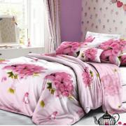 Комплект постельного белья, 1,5-сп, полисатин, Letto (розовый)