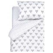 Постельное белье 1,5 спальное, на молниях, 1st Home (белый, серый)